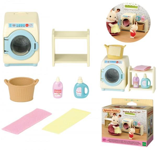 Sylvanian Families Einrichtungsset Waschmaschine und Zubehör