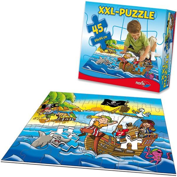 XXL Bodenpuzzle Piraten mit 45 großen Teilen