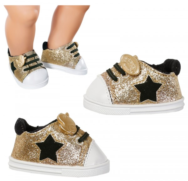 Baby Born Schuhe Trend Sneakers 43 cm (Gold)