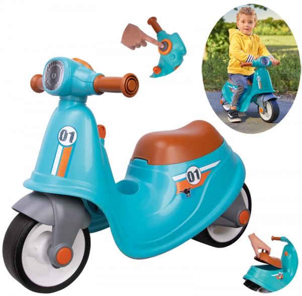 Kinder-Sitzroller Classic Scooter Sport (Türkis-Braun)