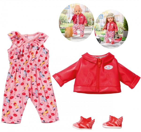 Baby Born City Scooter Outfit 43 cm (Rot-Pink)