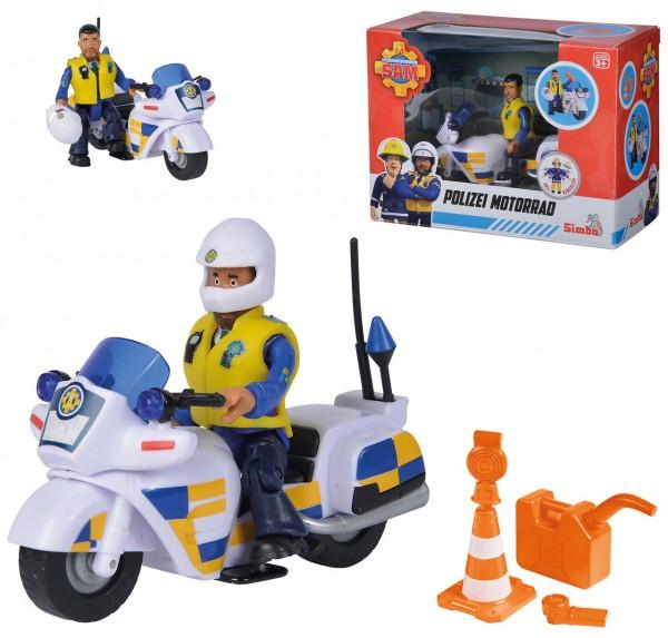 Feuerwehrmann Sam Polizei Motorrad mit Figur Malcolm