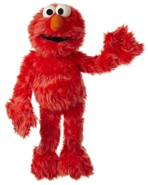 Living Puppets Große Handpuppe Elmo 65 cm (Rot)