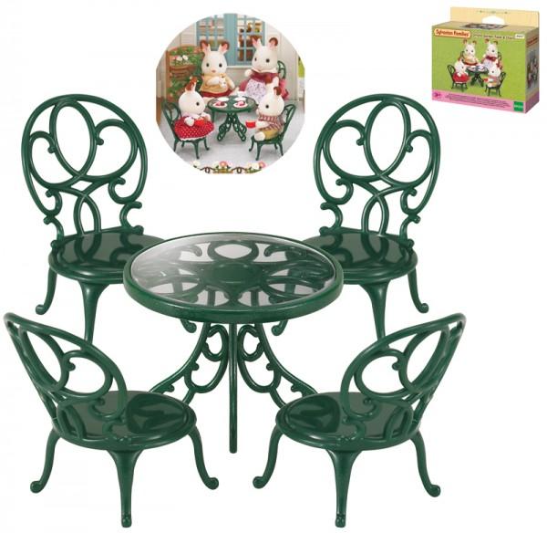 Sylvanian Families Möbelset Gartentisch Garnitur