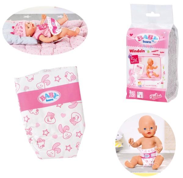 Baby Born großes Windelpaket 10er Pack Gr. 43 (Weiß-Pink)