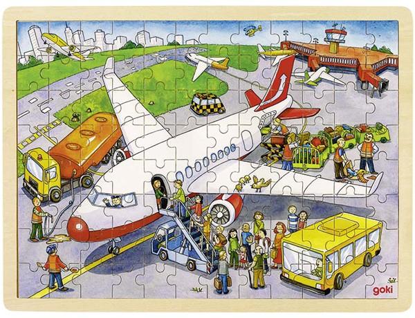 Holzpuzzle Auf dem Flughafen (96 teilig)
