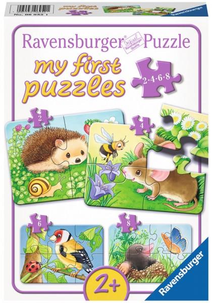 Mein erstes Puzzle Süße Gartenbewohner