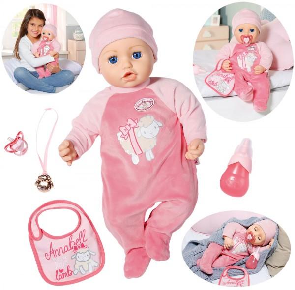 Baby Annabell Puppe 43 cm mit Funktionen und Zubehör (Rosa)