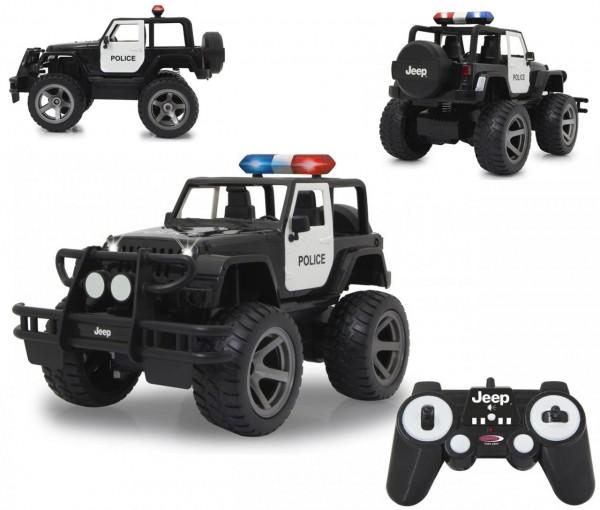 RC Jeep Wrangler Police Polizeiauto 1:12 2,4 GHz (Schwarz)