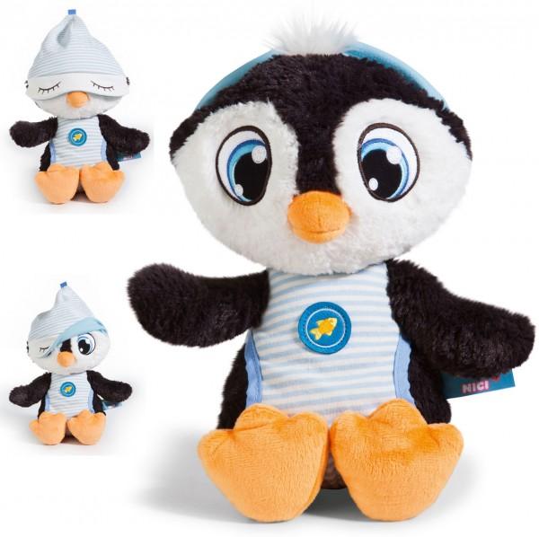 Kuscheltier Schlafmützen Pinguin Koosy 38 cm (Schwarz-Hellblau)
