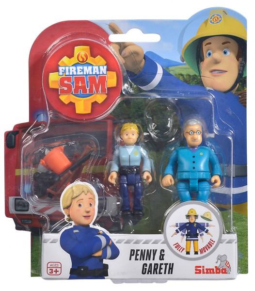 Feuerwehrmann Sam 2er Figuren-Set Penny & Gareth