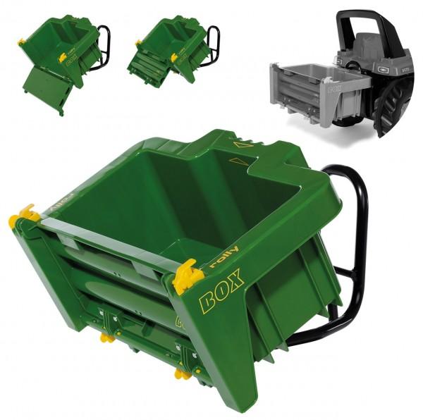 RollyBox John Deere Transportbehälter Box für Traktoren (Grün-Gelb)