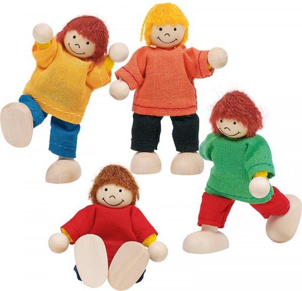 Puppenhaus-Puppen Fröhliche Kinder
