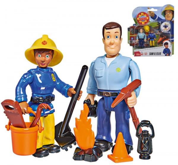 Feuerwehrmann Sam 2er Figuren-Set Sam und Ellie