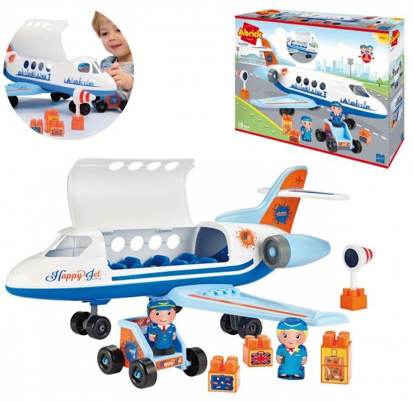 Abrick Flugzeug Happy Jet (Blau-Weiß)