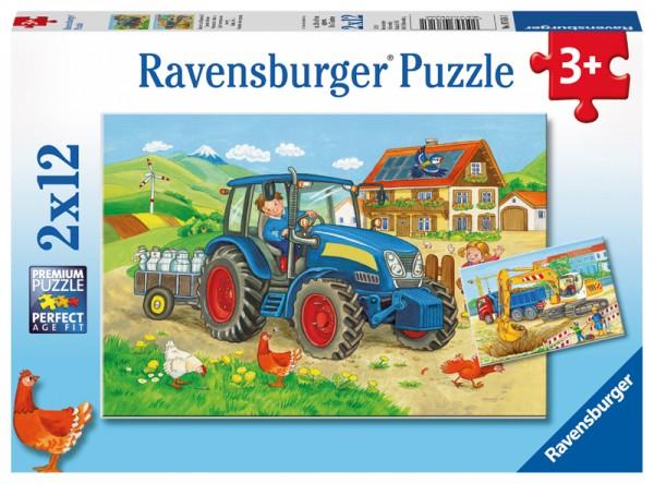 Kinderpuzzle Baustelle und Bauernhof ab 3 Jahren