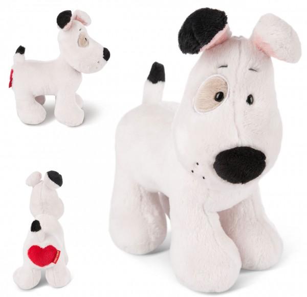 Stehendes Kuscheltier Love Hund 20 cm (Creme)