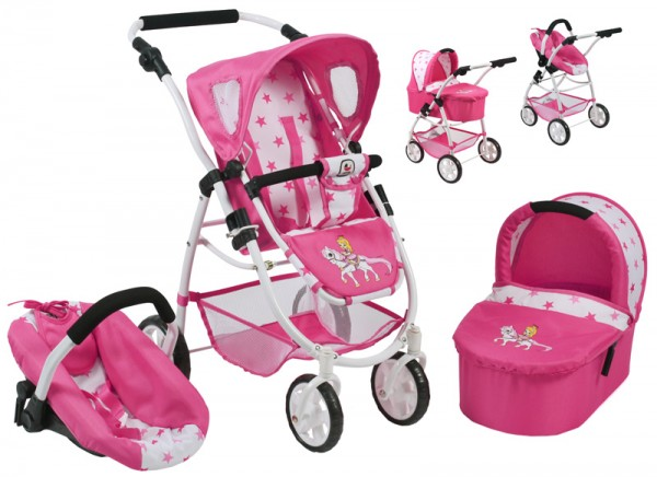 Puppenwagen Emotion All In 3in1 (Pony & Princess)
