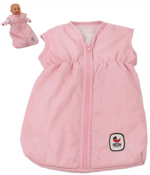 Puppenschlafsack (Melange Rosa)