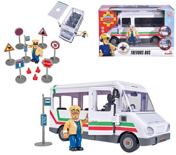Feuerwehrmann Sam Trevors Bus mit Figur