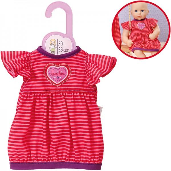 Dolly Moda Schlafkleid 30 - 36 cm (Pink-Rot)