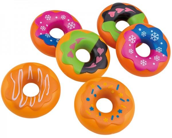 6 Donuts mit Verzierungen