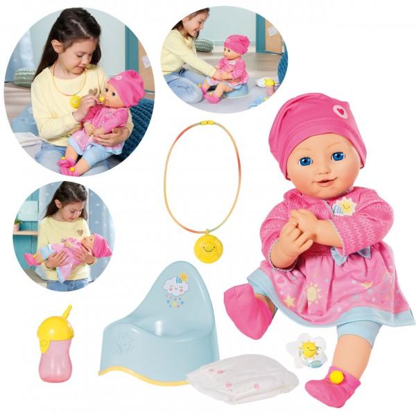 Baby Elli Smiles Puppe mit vielen Funktionen Interaktiv 43 cm (Pink)