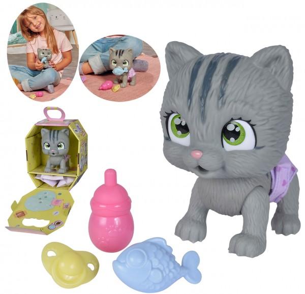 Pamper Petz Surprise Katze mit Zubehör (Grau)