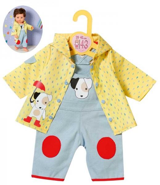 Dolly Moda Latzhose mit Regenjacke 39 - 46 cm (Gelb-Blau)