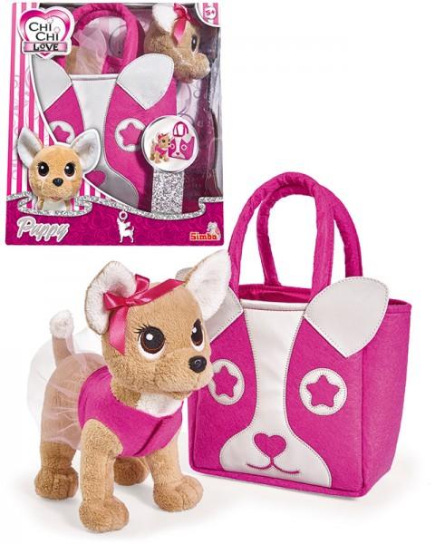 Chi Chi Love Puppy Chihuahua Plüschhund mit Tasche (Pink)