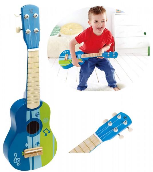 Kindergitarre Ukuele aus Holz (Blau)