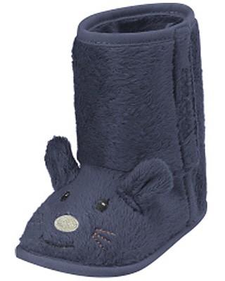 Babyschuhe Maus gefüttert Gr. 18/19 (Blau)