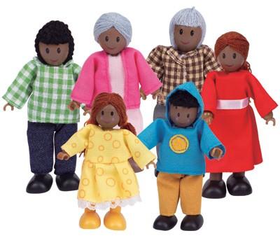Puppenhaus Moderne Familie (Dunkelhäutig)