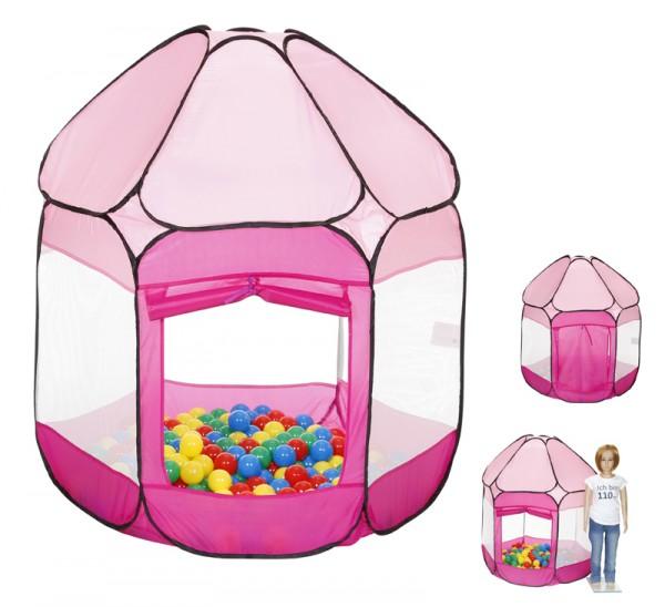Spielzelt Bällebad mit 250 Bällen (Pink)