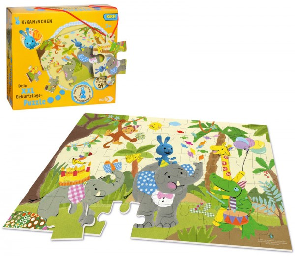 XXL Puzzle Kikaninchen Happy Birthday