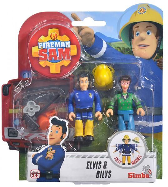 Feuerwehrmann Sam 2er Figuren-Set Elvis & Dilys