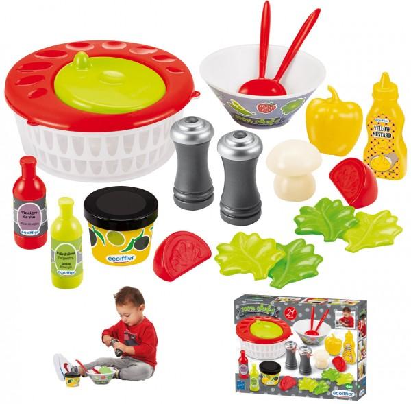 Salat-Set mit Salatschleuder für Kinderküche