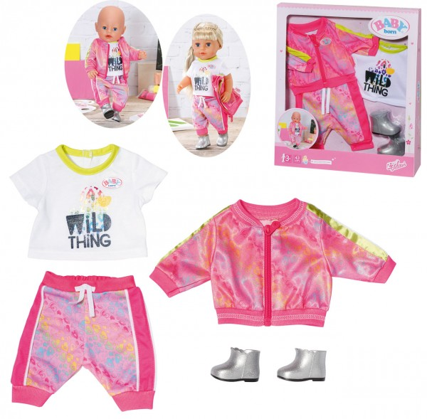 Baby Born Deluxe Trendiges Pink Set 43 cm (Pink)