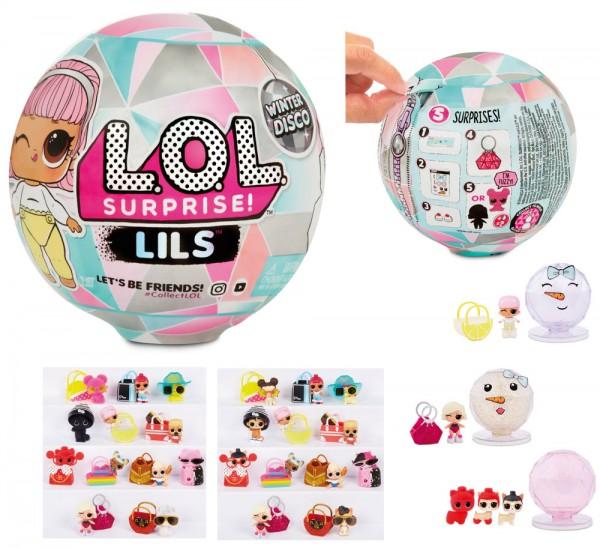 L.O.L. Suprise Lils Lil Sister & Lil Pet Winter Disco Serie (Sortiert)