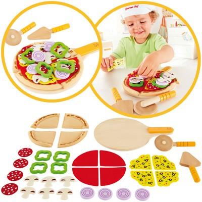 Pizza-Set aus Filz und Holz
