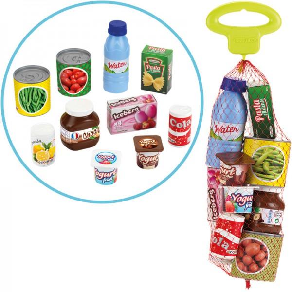 Netz mit Spiel-Lebensmitteln