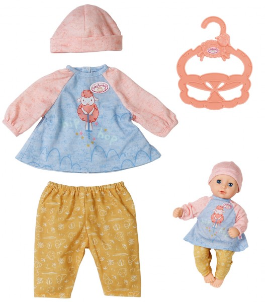 Baby Annabell Little Tagesoutfit Shirt mit Leggings 36 cm (Rosa-Ocker)