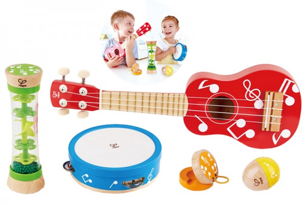Musikinstrumente aus Holz Mini Band-Set
