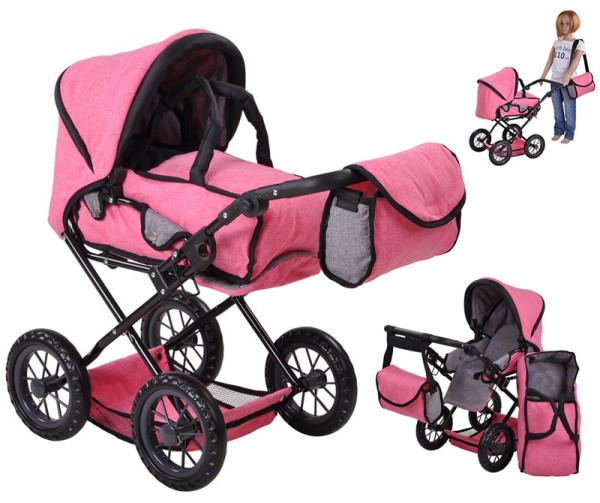 Puppenwagen Ruby (Jeans Pink)