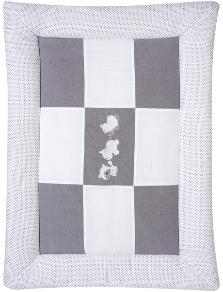 Krabbeldecke Amigos 100 x 135 cm (Weiß-Grau)