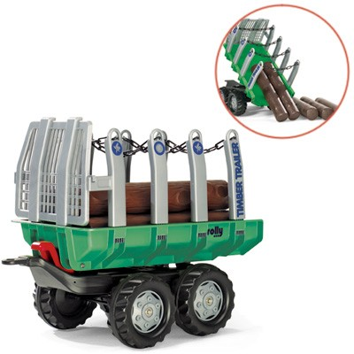 RollyTrailer Anhänger Timber mit Baumstämmen (Grün)