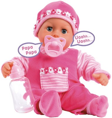 Funktionspuppe First Words Baby 38 cm (Pink)