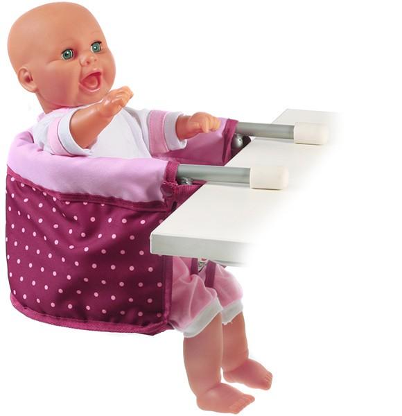 Puppen-Tischsitz (Dots Brombeere)