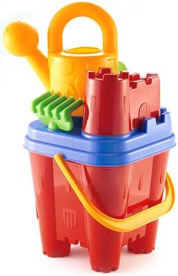 Burgeimer mit Sandspielzeug