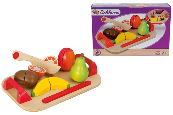 Schneidebrett Set mit Früchten